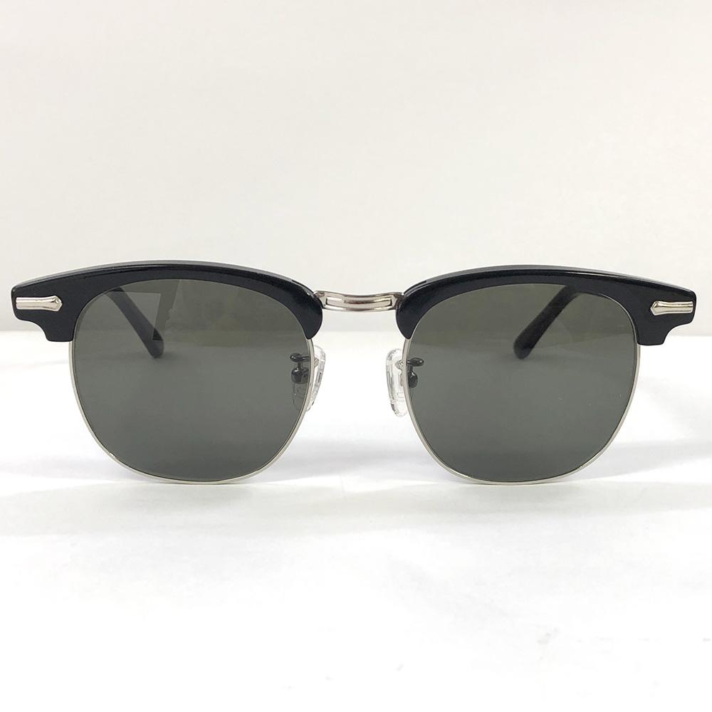 SHURON Made in U.S.A.RONSIR ZYL エボニー/サングラス 【UV400サングラスレンズ入り】 [シュロン ブロウ型 ブロー型 眼鏡 SUNGLASS アメリカ製 ]