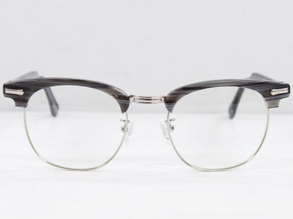 SHURON Made in U.S.A.RONSIR ZYL グレーブライヤー 【UV400クリアレンズ入り】 [シュロン ブロウ型ブロー型メガネ 眼鏡フレーム]