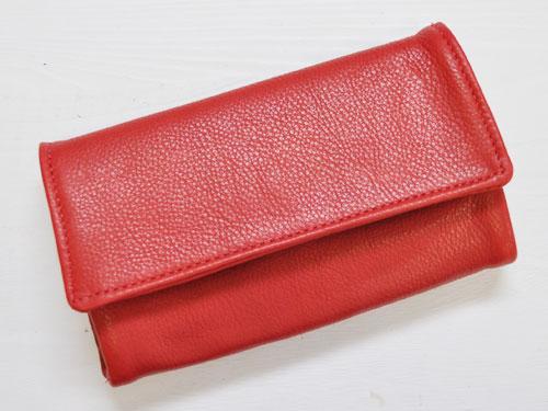 Victoria Leather TRAVEL WALLET レッド [ビクトリアレザー トラベルウォレット 長財布] P12Sep14