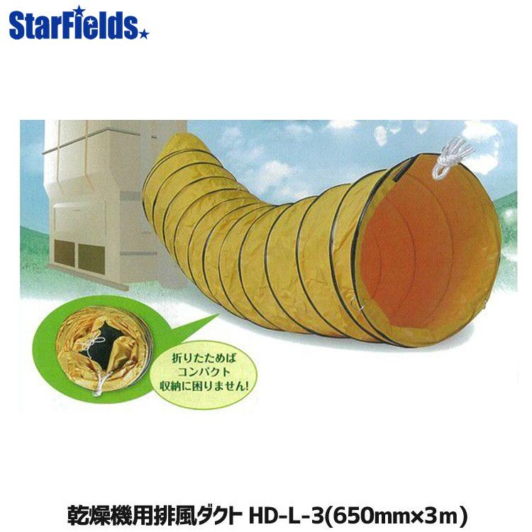 乾燥機用 排風ダクト HD-L-3 (Φ650mm×3m) 【メーカー直送・代引不可】