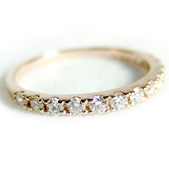 ダイヤモンド リング ハーフエタニティ 0.3ct K18 ピンクゴールド ハーフエタニティリング 人気のダイヤリング