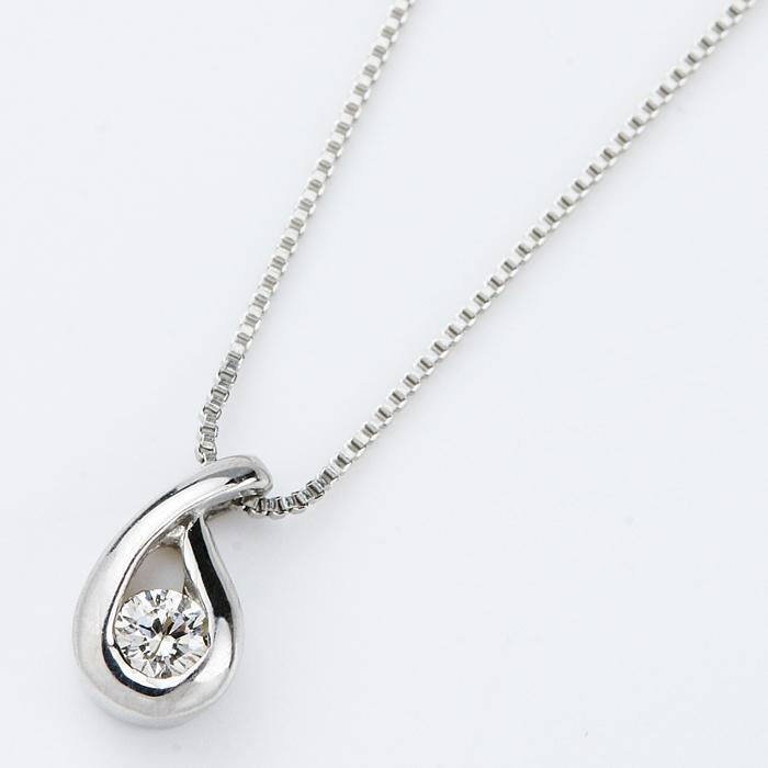 ダイヤモンド ネックレス 一粒 プラチナ Pt900 0.05ct ダイヤネックレス ドロップモチーフ ペンダント