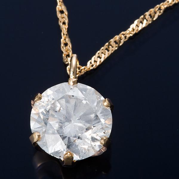 ダイヤモンド ネックレス 0.7カラット K18 0.7ctダイヤモンドペンダント スクリューチェーン