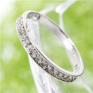 ダイヤモンドリング 指輪 0.2ct ダイヤ エタニティ リング 9号