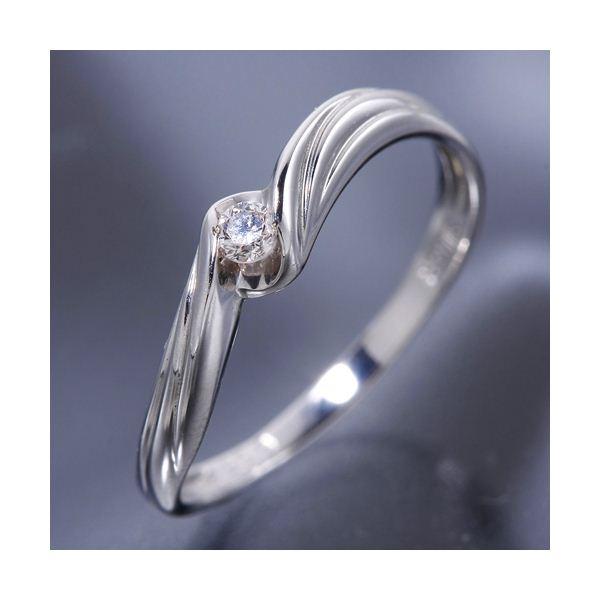 ウェービーダイヤリング 指輪 17号