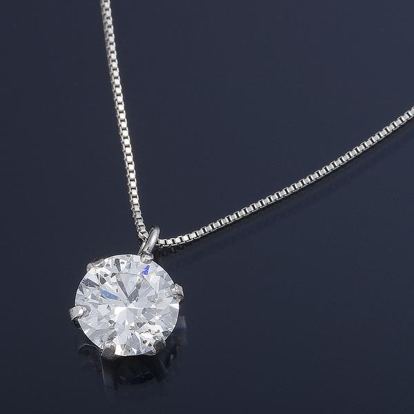 ダイヤモンド ネックレス 0.5カラット Dカラー SI2 エクセレントカット プラチナPT999 0.5ctダイヤモンドペンダント 鑑定書付き(中央宝石研究所)