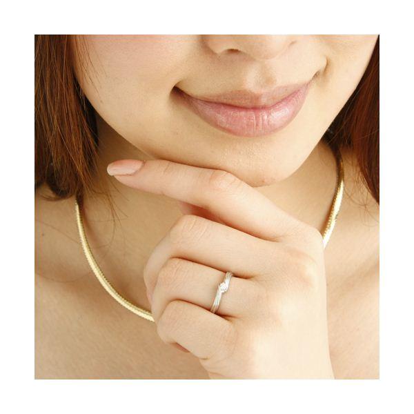 ピンクダイヤリング 指輪 ウェーブリング 13号Ib76Yfgvmy