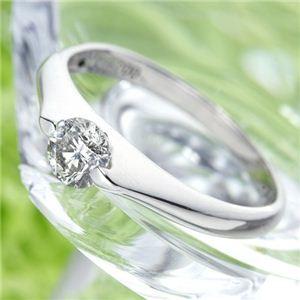 PT900 プラチナ 0.3ctダイヤリング 指輪 パサバリング 19号