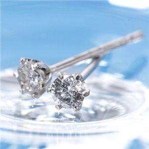 【エントリーで更にポイント10倍】K18 0.1ctダイヤモンドピアス