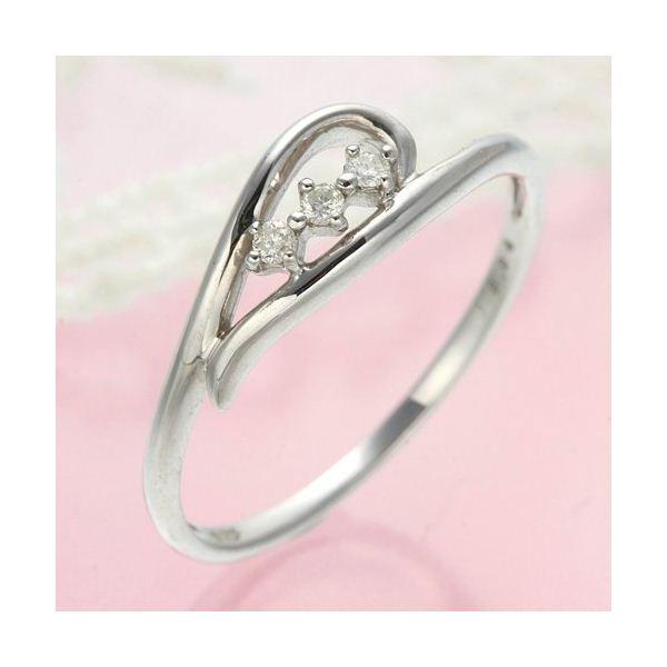 ダイヤリング 指輪 ハーフハートリング 9号