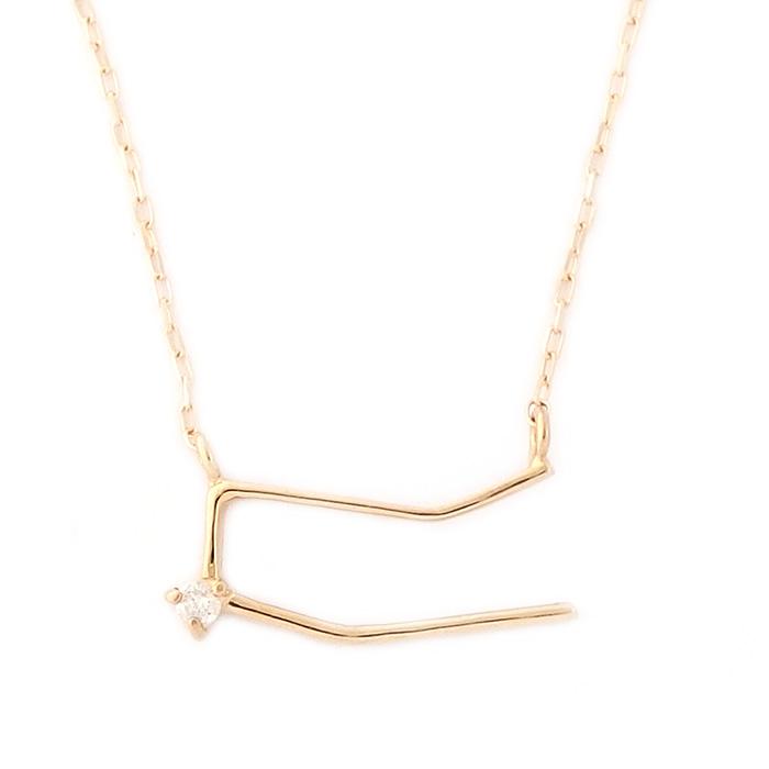 12星座 ダイヤモンド ネックレス 双子座 ふたご座 一粒 0.01ct K18 ゴールド ダイヤネックレス ペンダント