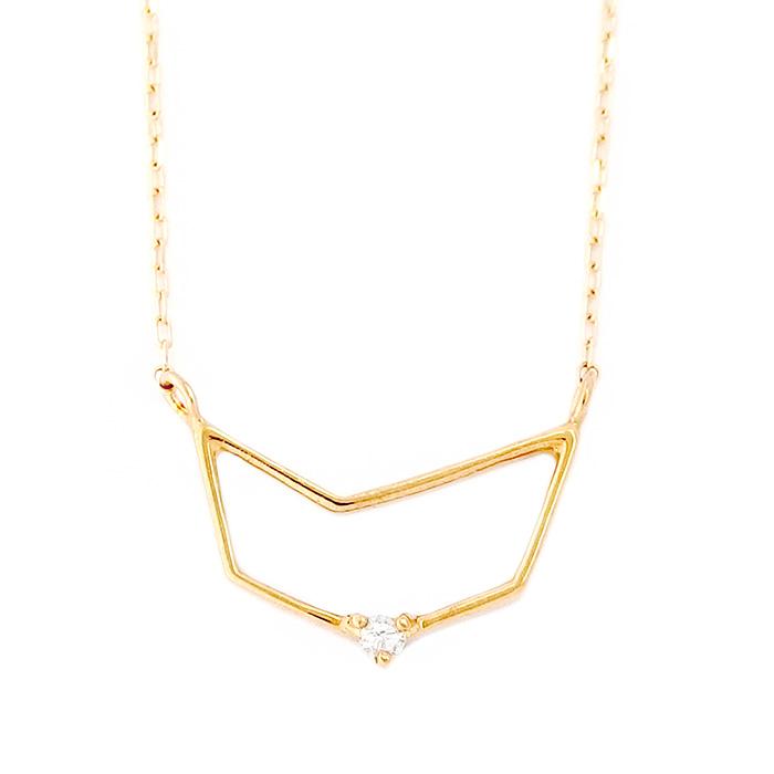 12星座 ダイヤモンド ネックレス 山羊座 やぎ座 一粒 0.01ct K18 ゴールド ダイヤネックレス ペンダント