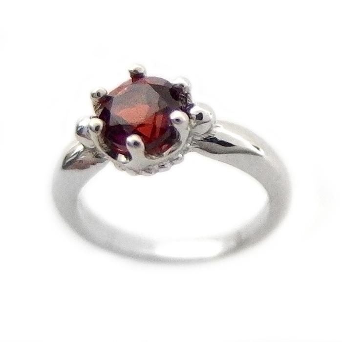 ベビーリング ネックレス ガーネット 1月 誕生石 K10 ホワイトゴールド Babyリング 指輪 シンプル ペンダント