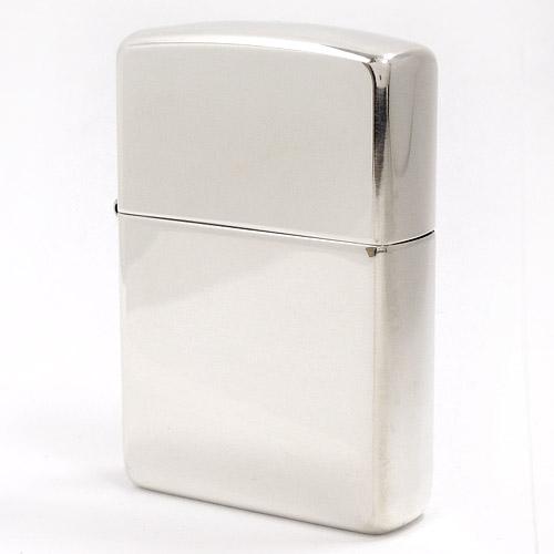 ZIPPO ライター 純銀製 #15 鏡面ポリッシュ ツヤ有り加工 スターリングシルバー925 (銀無垢 ジッポライター)