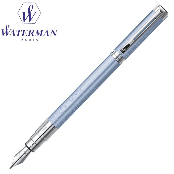ウォーターマン 万年筆 パースペクティブ デコレーション アズール ブルー CT 青&銀 M中字 S2236133 (筆記具・名入れ不可)