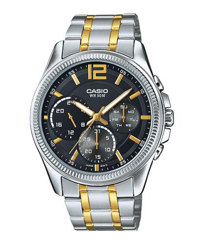 Casio MTP-E305SG-1A 逆輸入 カシオ ウォッチ メンズ 時計 腕時計 マルチカレンダー【送料無料】【ベルト調整無料】【smtb-KD】