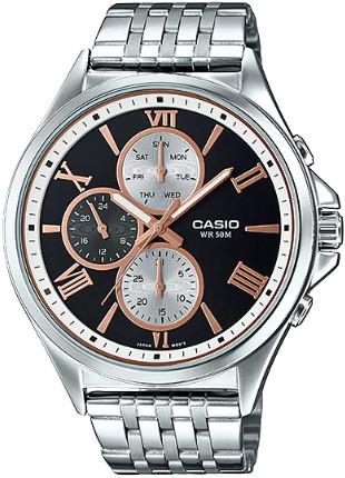【ベルト調整無料】Casio MTP-E316D-1AV 逆輸入 カシオ ウォッチ メンズ 時計 腕時計 マルチカレンダー 【送料無料】