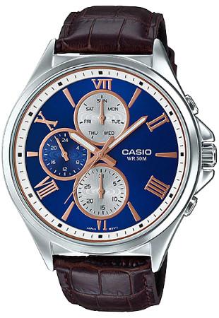 Casio MTP-E316L-2 逆輸入 カシオ ウォッチ メンズ 時計 腕時計 マルチカレンダー レザーベルト【送料無料】