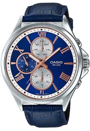 Casio MTP-E316L-2A2V 逆輸入 カシオ ウォッチ メンズ 時計 腕時計 マルチカレンダー レザーベルト【送料無料】