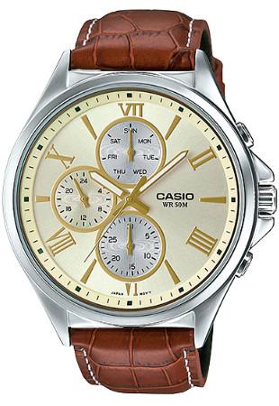 Casio MTP-E316L-9AV 逆輸入 カシオ ウォッチ メンズ 時計 腕時計 マルチカレンダー レザーベルト【送料無料】