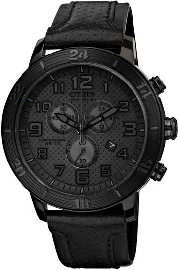 CITIZEN AT2205-01E シチズン エコドライブ 逆輸入 メンズ 腕時計 時計 ブラック レザー ウォッチ クロノグラフ 【送料無料】【代引手数料無料】【日本未発売】 【smtb-KD】