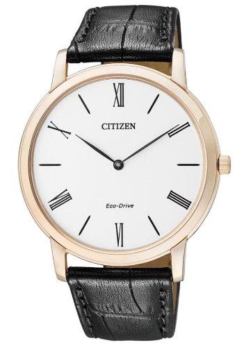 CITIZEN シチズン AR1113-12B エコドライブ メンズ 腕時計 レザーベルト スリム 薄型【送料無料】【smtb-KD】