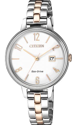 【ベルト調整無料】シチズン エコドライブ レディース ウォッチ 腕時計 時計 CITIZEN EW2446-81A 逆輸入【送料無料】【smtb-KD】