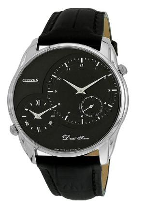 CITIZEN AO3009-04E 逆輸入 日本未発売 シチズン メンズ ウォッチ 時計 デュアルタイム 2タイム ブラック