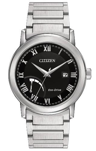 シチズン AW7020-51E 逆輸入 エコドライブ パワーリザーブ ウォッチ ブラック メンズ 腕時計 CITIZEN【送料無料】【代引手数料無料】【ベルト調整無料】【smtb-KD】