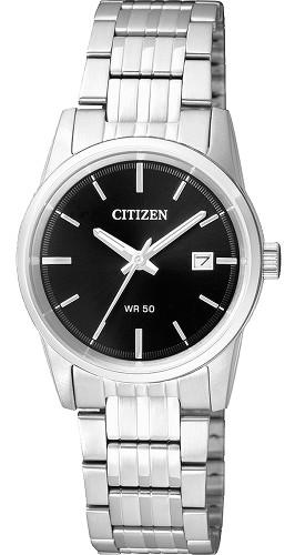 CITIZEN EU6000-57E 逆輸入 電池式 シチズン レディース ウオッチ 時計 ブラック【送料無料】