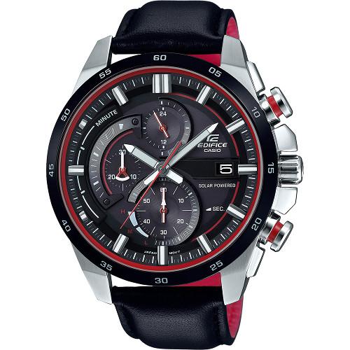 カシオ エディフィス ソーラー 腕時計 時計 クロノグラフ 海外モデル CASIO EDIFICE EQS-600BL-1A 【送料無料】【代引手数料無料】【ベルト調整無料】