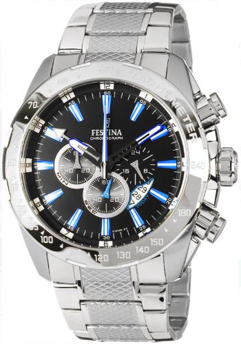 【ベルト調整無料】【送料無料】【代引手数料無料】FESTINA F16488/3 フェスティナ クロノグラフ メンズ ウォッチ 腕時計 ホワイト