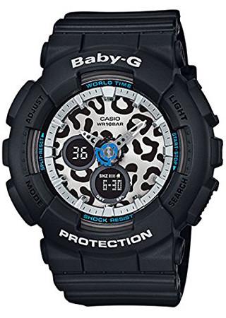 逆輸入 CASIO BA-120LP-1A レオパード 豹 カシオ ベビージー レディース デジタル アナログ ウォッチ 腕時計 ブラック 【送料無料】