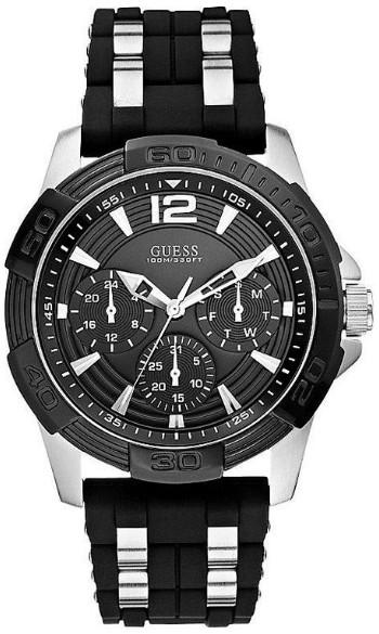 日本未発売 GUESS U0366G1 ゲス マルチファンクション ウォッチ 腕時計 メンズ ブラック【送料無料】