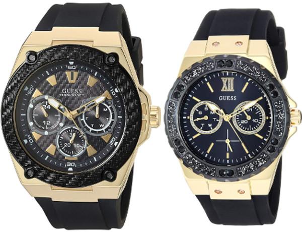 GUESS U1049G5-U1053L7 ゲス デイデイト ペアウォッチ ペア 腕時計 ブラック【送料無料】