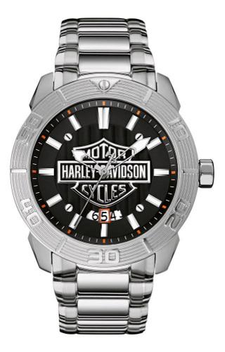 【ベルト調整無料】 日本未発売 Harley Davidson 76B169 ハーレーダビッドソン メンズ ウォッチ 腕時計【送料無料】【代引手数料無料】