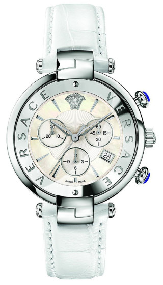 【送料無料】【代引不可】ヴェルサーチ VERSACE 020016 クロノグラフ メンズ ウォッチ 腕時計 時計 ホワイト
