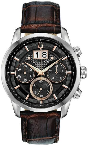 日本未発売 BULOVA 96B311 ブローバ メンズ クロノグラフ ウォッチ 時計