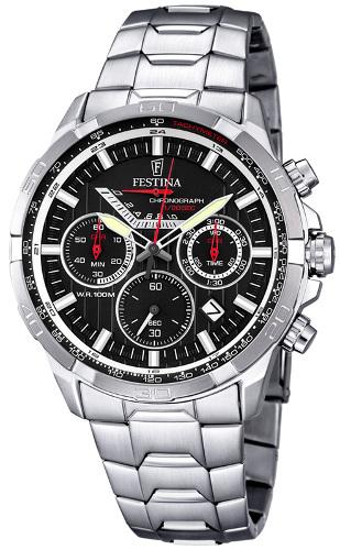 FESTINA F6836/4 フェスティナ 1/20秒クロノグラフ メンズ ウォッチ 腕時計 時計 メタルベルト【送料無料】【代引手数料無料】【ベルト調整無料】【smtb-KD】