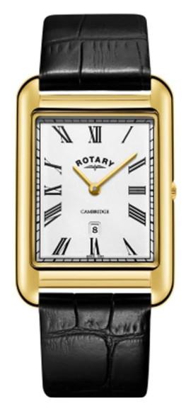 ROTARY GS05283/01 ロータリー ウォッチ 腕時計 時計 レザーベルト メンズ シルバー 角 スクエア ゴールド 薄型