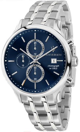 【ベルト調整無料】Maserati マセラティ R8873636001 クロノグラフ メンズ ウォッチ カーブランド ブルー【送料無料】【代引き手数料無料】