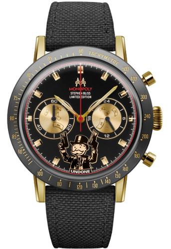 UNDONE Monopoly ミスターモノポリーモデル クロノグラフ メンズ ウォッチ ブラック 時計 腕時計
