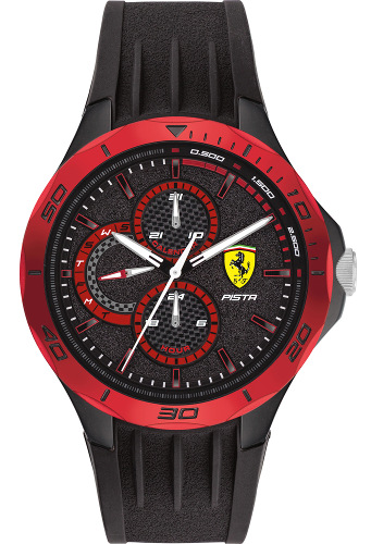 Ferrari 0830721 Pista フェラーリ 時計 デイデイト オフィシャル メンズ ウォッチ【送料無料】【代引手数料無料】
