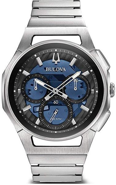 【ベルト調整無料】日本未発売 BULOVA 96A205 ブローバ メンズ クロノグラフ ウォッチ 時計 ハイパフォーマンスクォーツ スケルトン ブルー