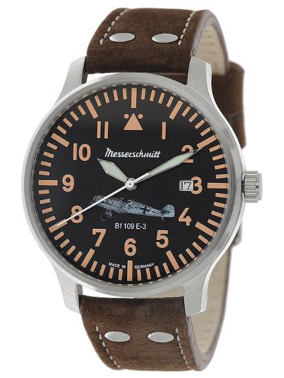 【送料無料】Messerschmitt by Aristo メッサーシュミット by アリスト ウォッチ レザーベルト 腕時計 メンズ BF109E-3