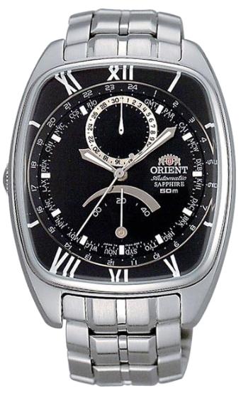 ORIENT CFAAA001 オリエント GMT ワールドタイム パワーリザーブ 自動巻 オートマチック メンズ ウォッチ ブラック トノー 樽型 【送料無料】【ベルト調整無料】