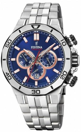 FESTINA F20448/1 フェスティナ クロノグラフ メンズ ウォッチ 腕時計 時計 ブルー 【送料無料】【代引手数料無料】