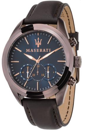 日本未発売 Maserati マセラティ R8871612008 時計 メンズ ウォッチ クロノグラフ カーブランド レザーベルト ネイビー ブラウン【送料無料】