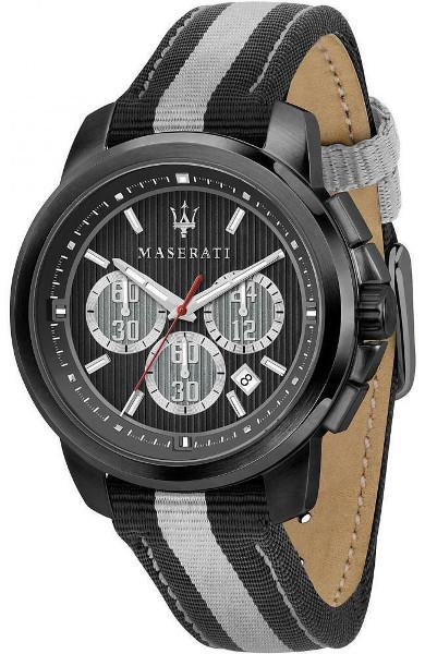 日本未発売 Maserati マセラティ R8871637002 時計 メンズ ウォッチ 腕時計 クロノグラフ カーブランド レザーベルト