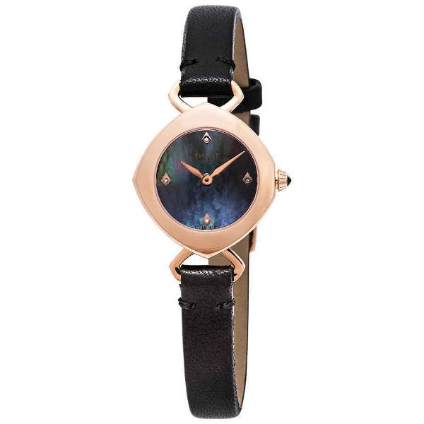 【送料無料】日本未発売 TISSOT T1131093612600 ティソ レディース ウォッチ 時計 SWISS MADE ブルーシェル 4 ダイヤモンド ローズゴールド 薄型